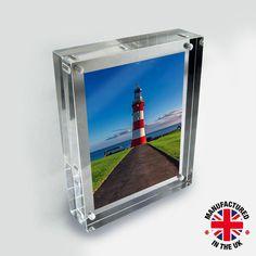 acrylic magnetic photo frame acrylic block frames - Muji Frames