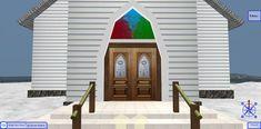 Old Church Entrance at Snow Island 3D Browsing - WalkTheWeb.com