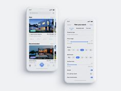 Real Estate App - 30 Yr Amortization Calculator- Watch it before you plan to payoff your mortgage. - Real Estate App by Anastasiia Sydorenko Mobile Ui Design, App Ui Design, User Interface Design, Web Design, Android Design, Hotel Booking App, Card Ui, App Design Inspiration, Design Ideas