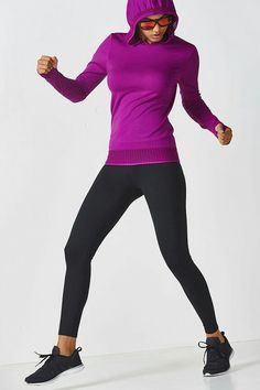 f198fb57d29572 Beat the chill in a mesh-accented, seamless hoodie and our fleece-lined,  performance leggings.