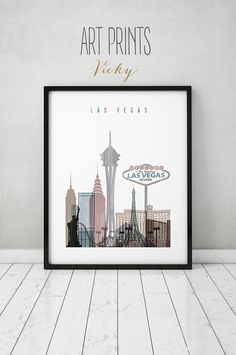 Las Vegas Wall Art las vegas print poster wall art nevada cityscape, las vegas