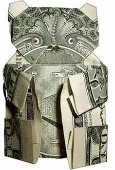 50 Spectacular Origami Designs Made From Money Origami And Kirigami, Origami Paper Art, Origami Folding, Paper Folding, Paper Crafts, Diy Crafts, Dollar Bill Oragami, Oragami Money, Money Lei