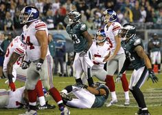 (Associated Press)-Final minute of Giants-Eagles game. You decide.