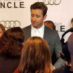 #armiehammer making faces on the carpet for #manfromUNCLE! #toronto #winklevoss #socialnetwork #loneranger #galaxys6