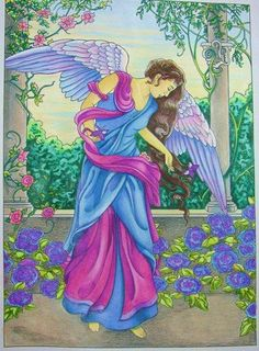 Angels Coloring Book (Dover Coloring Books): Marty Noble: 9780486467757: Amazon.com: Books