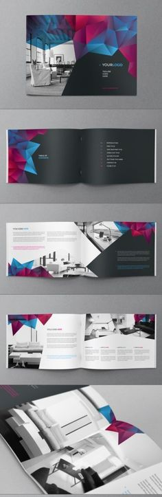Brochure Inspiration with an Angled Impact Portfolio Covers, Portfolio Layout, Portfolio Design, Portfolio Ideas, Creative Portfolio, Brochure Inspiration, Graphic Design Inspiration, Book Design, Layout Design