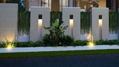 House Front Wall Design, House Fence Design, Exterior Wall Design, House Outside Design, Entrance Design, Gate Designs Modern, Modern Fence Design, Modern Gates, Compound Wall Gate Design