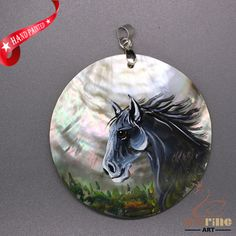 FASHION NECKLACE HAND PAINTED HORSE SHELL PENDANT ZL3005119 #ZL #Pendant