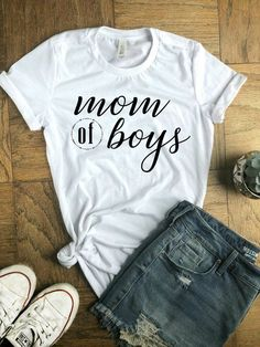 f5ea796bfb5c 28 Best MOM OF BOYS SHIRT images in 2017   Dad to be shirts, Dog ...