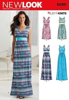 Simplicity Creative Group - 6280 Misses' Knit Dress in Two Lengths {wear with tank top beneath}