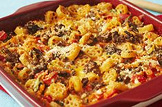 Cheesy Italian Pasta Bake recipe - Lost me on the addition of Velvetta, but could easy leave out or substitute some other cheese Baked Pasta Recipes, Cheesy Recipes, Beef Recipes, Cooking Recipes, What's Cooking, Ninja Recipes, Beef Dishes, Pasta Dishes, Food Dishes