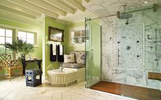 Love this! Luxury bathroom.