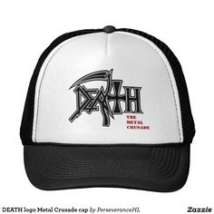 Shop DEATH logo Metal Crusade cap created by PerseveranceHL. Custom Hats, Death Metal, Accessories Shop, Cap, Logo, Shopping, Fashion, Baseball Hat, Moda