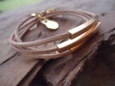 ✿ LEER, vierkante stangen & SPIRAAL ✿ wrap armband van ASAI BOLIVIEN op DaWanda.com