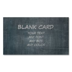 Its Real Chalk - Blank Card