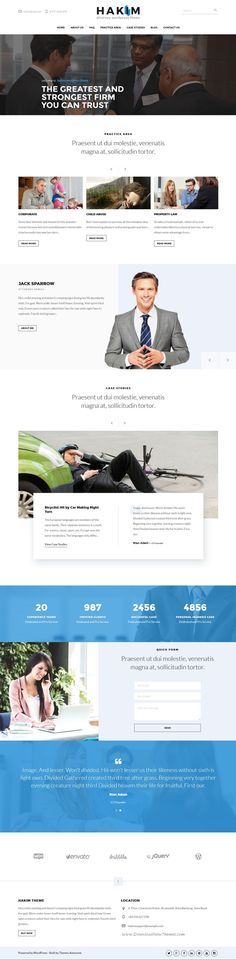 Buy Attorney and Lawyer WordPress Theme - Hakim by themesawesome on ThemeForest. Hakim Attorney and Lawyer WordPress Theme Hakim is Attorney and Lawyer WordPress Theme that crafted with modern desig. Design Web, Modern Design, Lawyer, Case Study, Wordpress Theme, Design Inspiration, Free, Collection, Day Planners