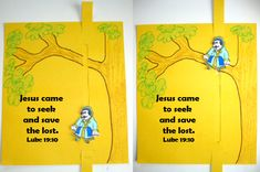 Growing Kids in Grace: Jesus meets Zacchaeus-printable is no longer available but can use as inspiration Bible Story Crafts, Bible Crafts For Kids, Preschool Bible, Preschool Crafts, Zacchaeus Craft, Church Activities, Bible Activities, Sunday School Lessons, Sunday School Crafts