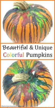 Learn how to make unique and colorful pumpkins this fall #pumpkins #fallcraftsforkids