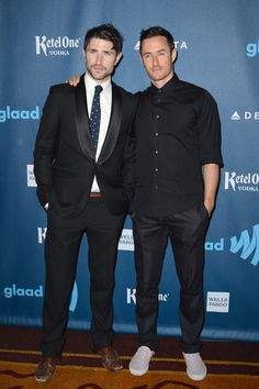 Matt Dallas and Blue Hamilton - 24th Annual GLAAD Media Awards..JW Marriott, Los Angeles, CA..April 20, 2013 (Photo by Axelle Woussen / Bauer-Griffin)..Pictured: