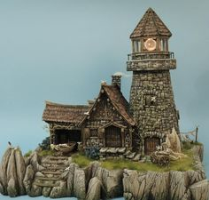 Clay Houses, Stone Houses, Miniature Houses, Tabletop, Old Windmills, Barn Wood Crafts, 3d Modelle, Building Concept, Wargaming Terrain