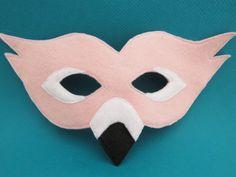 Pink Flamingo Mask Bird Mask Bird Costume by herflyinghorses