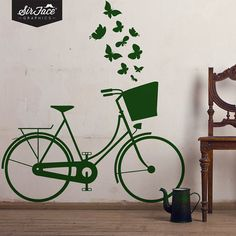 Vintage Dutch Bike Wall Decal  Bicycle Wall by SirFaceGraphics, £28.99 @Grace Bridgman