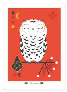 Bubo print via Terese Bast Papershop. Click on the image to see more!