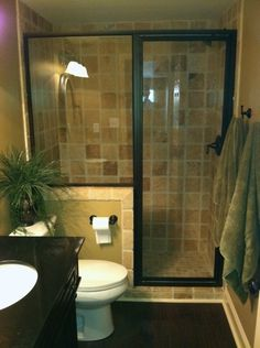 Small bathroom plan with separate water closet. Description from pinterest.com. I searched for this on bing.com/images