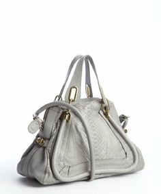 Chloe: grey python convertible shoulder bag