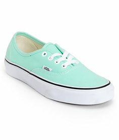 4617bf6586a8c7 Vans Girls Authentic Beach Glass Mint Shoe at Zumiez   PDP Mint Green Vans