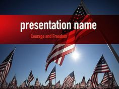 Httppptstarpowerpointtemplateamerican flag day large group of american flags presentation template toneelgroepblik Gallery