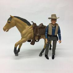 Vintage 1960s American Character Bonanza Ben Cartwright & Horse Action Figures  | eBay