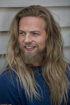 Grooming: Lasse also revealed his grooming secrets - a hair masque and regular beard trim to make sure his locks stay in perfect condition