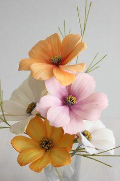 Gumpaste Cosmos Flowers