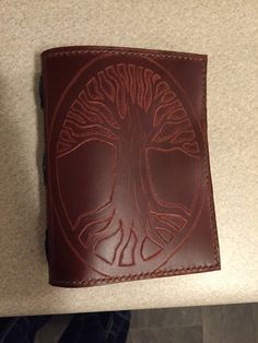 Custom, hand-made leather journal.