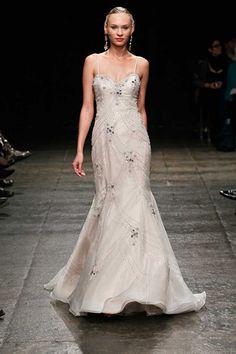 dress, wedding dress, ivory, gown, classic, embroidery, Wedding Gown, lazaro, Silk Organza, trumpet gown, spring 2013, cashmere chiffon, 3304, Spring