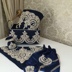 Ottoman Seccade Seti | Gece Mavisi
