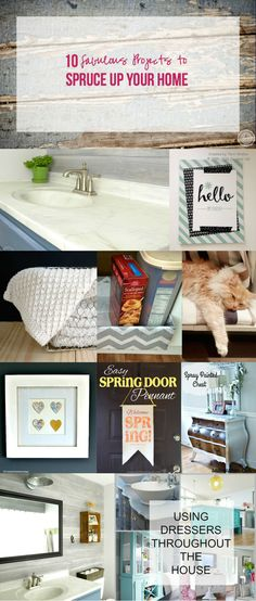 10 Fabulous Projects to Spruce Up Your Home with Happily Ever After, Etc.