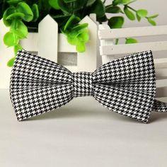 100%Silk Jacquard Woven Men Classic Wedding Butterfly Self Bow Tie Mens BowTie