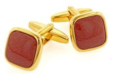 Elegant and unusual goldstone cufflinks with presentation box Cufflinks House. $59.99. Quality craftsmanship and superb styling. Presentation boxed. Striking on the cuff. Save 45%!