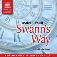 "Marcel Proust's ""Swann's Way.""   Read by Neville Jason,   UNABRIDGED. (http://www.naxosaudiobooks.com/0096.htm) Detailed summary: http://translate.googleusercontent.com/translate_c?depth=1&hl=en&ie=UTF8&prev=_t&rurl=translate.google.com&sl=fr&tl=en&u=http://alarecherchedutempsperdu.com/proust/resume/ducotedechezswann&usg=ALkJrhiATlXUIC3I824xtkwUxh6EXz4_Ig"