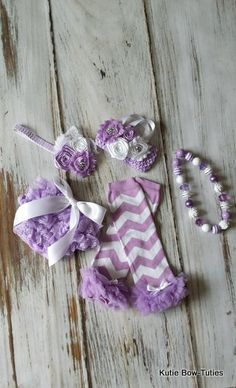 Lilac and White Chevron Set-Legwarmers, Chevron, Baby, Toddler, 1st Birthday, First Birthday, Gumball Necklace, Lace Bloomers, Tube Top on Etsy, $19.95