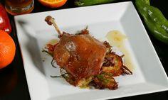 Receta de Confit de pato con mermelada de naranja Spanish Food, Tandoori Chicken, Sandwiches, Pork, Food And Drink, Beef, Ethnic Recipes, Healthy, Drake