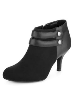 Faux Suede Strap Button Shoe Boots with Insolia for £28.00 (was £35.00) at M&S #SwishList #ChristmasGiftIdeas
