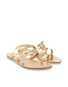Lucy Strappy Sandal | Gold | Accessorize