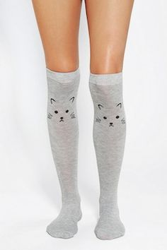 Urban Outfitters Knee High Socks @Kayleen Flannery Sauvageau @Ashley Rajchel