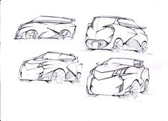 MPV cars project doodle sketch