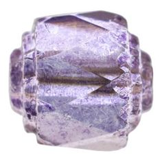 8mm Amethyst Glow Czech Cathedral Fire Polished Glass Bead | Fusion Beads