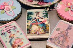 Marie Antoinette Party Theme Cookies  Let them eat cake  www.SouthFLWeddingPlanner.com