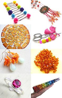 A very cheerful and colorful treasury--Pinned with TreasuryPin.com